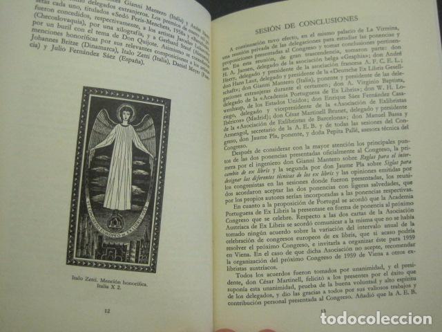 Arte: EX LIBRIS - VI CONGRESO EUROPEO EX LIBRIS - BARCELONA -AÑO 1958-VER FOTOS-(X-1595) - Foto 6 - 84631524