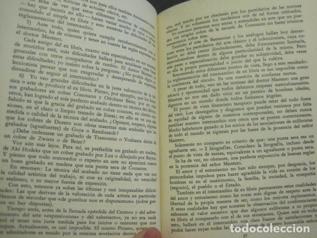 Arte: EX LIBRIS - VI CONGRESO EUROPEO EX LIBRIS - BARCELONA -AÑO 1958-VER FOTOS-(X-1595) - Foto 8 - 84631524