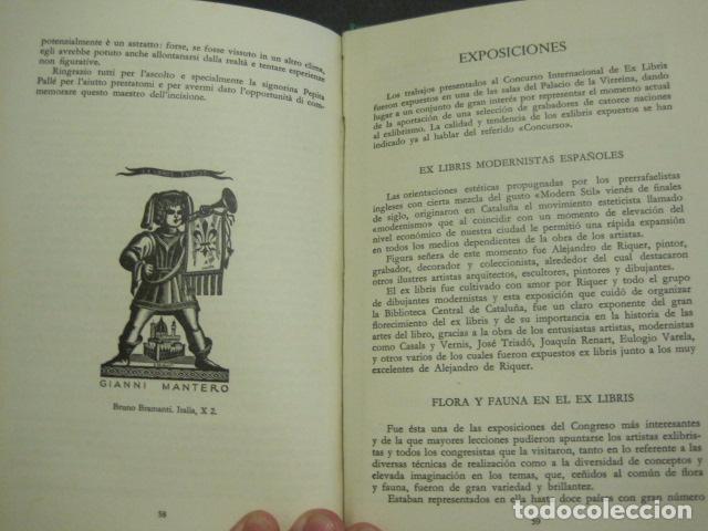 Arte: EX LIBRIS - VI CONGRESO EUROPEO EX LIBRIS - BARCELONA -AÑO 1958-VER FOTOS-(X-1595) - Foto 11 - 84631524