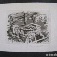 Arte: EX LIBRIS - GRABADO - AGUAFUERTE - VER FOTOS-(X-1663). Lote 86150736
