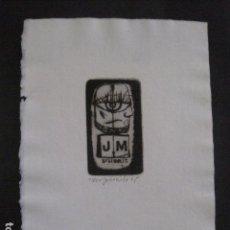 Arte: EX LIBRIS - GRABADO - AGUAFUERTE - VER FOTOS-(X-1664). Lote 86150828