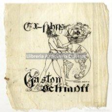 Arte: [EX LIBRIS. ISMAEL SMITH. 1920] EX-LIBRIS GASTON SCHMOLL. Lote 86348148