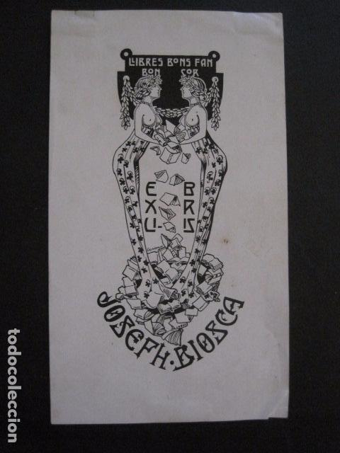EX LIBRIS - JOSEPH BIOSCA - CASADEMUNT - VER FOTOS - (X-1682) (Arte - Ex Libris)