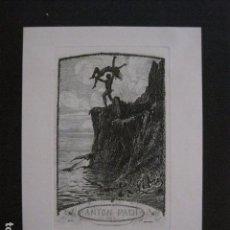 Arte: EX LIBRIS - GRABADO - AGUAFUERTE- ANTON PACH -VER FOTOS - (X-1733). Lote 86383664
