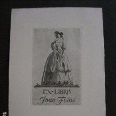 Arte: EX LIBRIS - GRABADO - AGUAFUERTE- JOAN FISAS -VER FOTOS - (X-1734). Lote 86383764