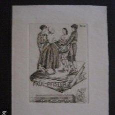 Arte: EX LIBRIS - GRABADO - AGUAFUERTE- IRENE COLL -VER FOTOS - (X-1744). Lote 86384520