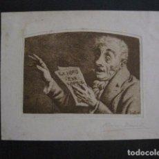 Arte: EX LIBRIS - GRABADO - AGUAFUERTE- EVA LOPEZ - BORRELL -VER FOTOS - (X-1749). Lote 86385032