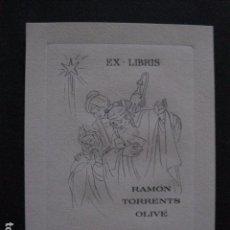 Arte: EX LIBRIS- RAMON TORRENTS OLIVE -VER FOTOS - (X-1758). Lote 86577340