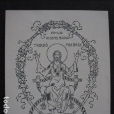 Arte: EX LIBRIS - TRIADO - VER FOTOS - (X-1770). Lote 86580864
