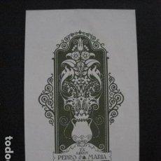 Arte: EX LIBRIS -TRIADO - PEDRO MARIA ROSICH - VER FOTOS - (X-1780). Lote 86581752