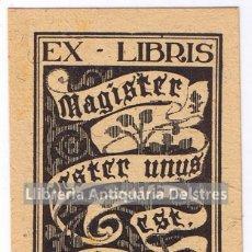 Arte: [EX LIBRIS. IGNASI FURIÓ. 1950-60] EX-LIBRIS MIQUEL DEYÁ. 2. Lote 86914844