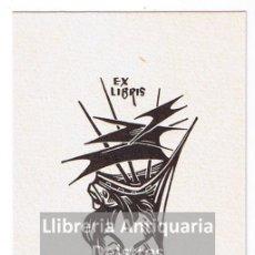 Arte: [EX LIBRIS. FRANK ALPRESA DEL RIO. 1967?] EX LIBRIS RAFAEL AMIGÓ I RIUTORT 2. Lote 86916564