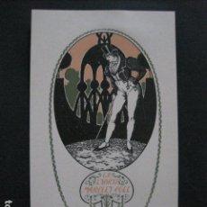 Arte: EX LIBRIS - MARCELI COLL - TRIADO -VER FOTOS-(X-1806). Lote 87257240