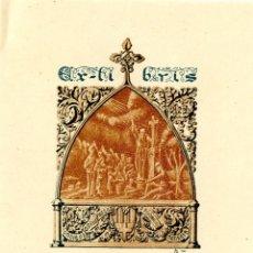 Arte: MARIANO CASTELLS. EX LIBRIS PARA RODERIC DE MANRESA. 1921. Lote 87569404