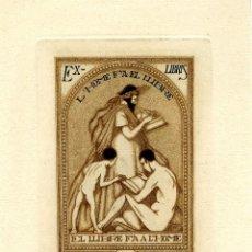Arte: ALEXANDRE CARDUNETS ( 1871-1944) EX LIBRIS PARA VICENS BOSCH. Lote 87685544