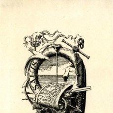 Arte: CASTELLS, MARIANO. EX LIBRIS PARA JOAN ABADAL CASTELLS. 1918. Lote 87950824