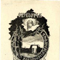 Arte: CASTELLS, MARIANO. EX LIBRIS DE A. DE LA PORTILLA I RIUS. Lote 87952996