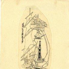 Arte: ALPRESA, F. (1900-1970). EX LIBRIS PARA RAFAEL AMIGÓ I RIUTORT. Lote 88804528