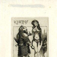 Arte: BOTELLA FERANDIZ, JUAN VICENTE (1925-1997)EX LIBRIS PARA K. HEJNYN. Lote 88829228