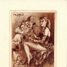 Arte: FERNÁNDEZ SÁEZ, J. (1924-). MOMO. EX LIBRIS PARA EL DR. J. CATASÚS. Lote 88922576