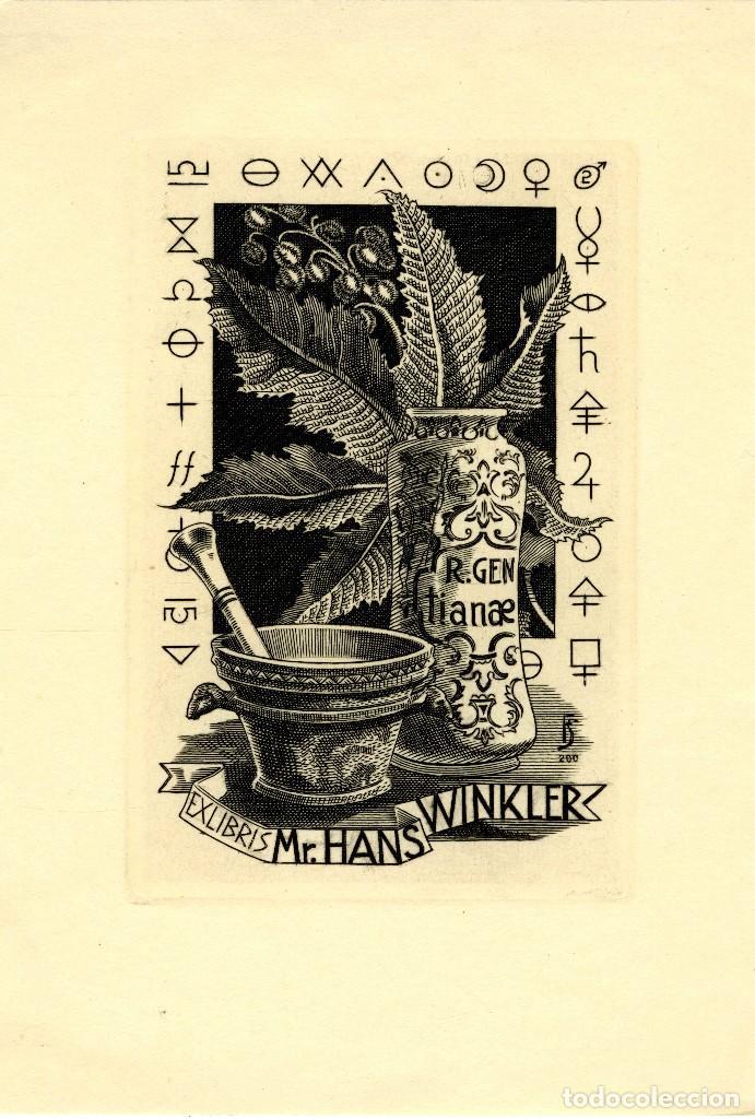 FERNÁNDEZ SÁEZ, J (1924-) EX LIBRIS PARA MR. HANS WINKLER (Arte - Ex Libris)