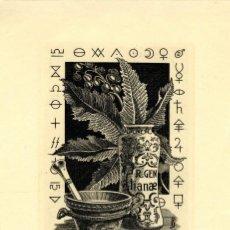 Arte: FERNÁNDEZ SÁEZ, J (1924-) EX LIBRIS PARA MR. HANS WINKLER. Lote 88965008
