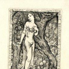 Arte: FERNÁNDEZ SÁEZ, J (1924-) EX LIBRIS CLAIRE ASTOR. Lote 88966508