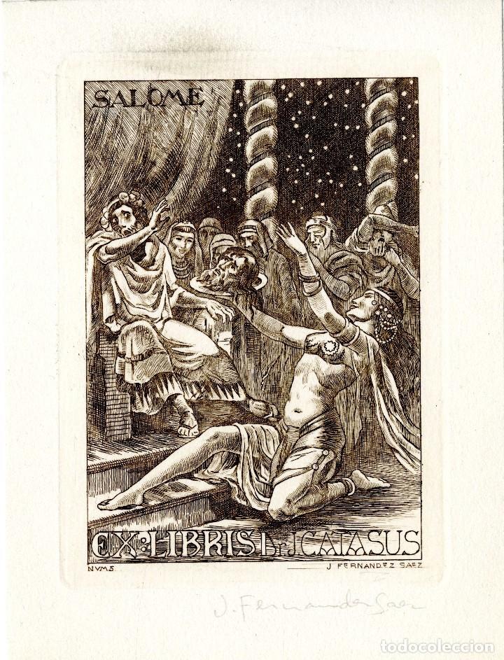 FERNÁNDEZ SÁEZ, J (1924-) EX LIBRIS PARA DR. J. CATASÚS (Arte - Ex Libris)