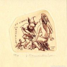 Arte: FERNÁNDEZ SÁEZ, J (1924-) EX LIBRIS PARA J V. BOTELLA. Lote 89053928