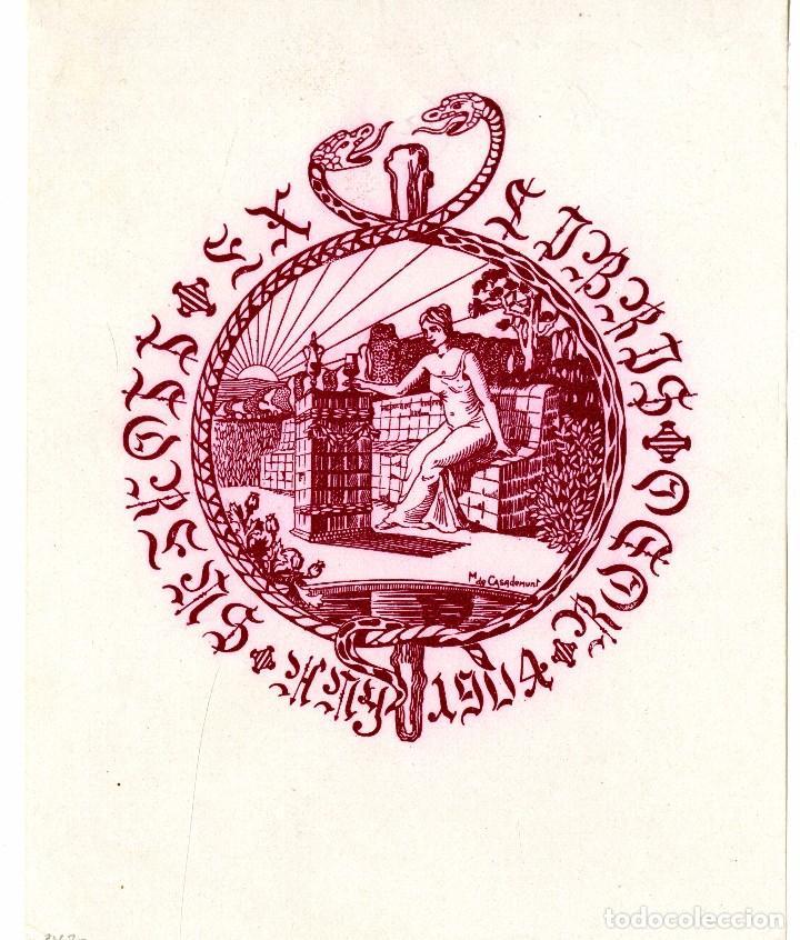 CASADEMUNT, MODEST (1881-1964). EX LIBRIS (Arte - Ex Libris)