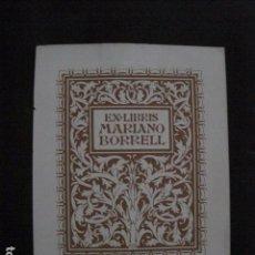 Arte: EX LIBRIS - TRIADO - VER FOTOS -(X-1887). Lote 89096316