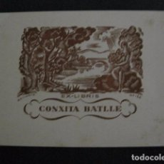 Arte: EX LIBRIS - CONXITA BATLLE - VER FOTOS -(X-1910). Lote 89097304