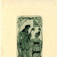 Arte: GARCÍA FALGÁS, LUIS ( 1881-1954). EX LIBRIS PARA FRANCISCA GIRONA . Lote 89167656