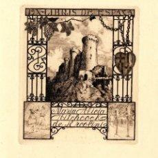 Arte: ROSSELL, RAIMUNDO (1924-). EX LIBRIS PARA Mª ALICIA HITHCOCK DE ERCOLINA. EX LIBRIS DE ESPAÑA. Lote 89609896