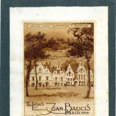 Arte: TITZ, LOUIS (1859-1932). EX LIBRIS PARA JOAN BAUCIS. Lote 89611288