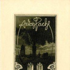 Arte: TITZ, LOUIS (1859-1932). EX LIBRIS PARA ANTON PACH. Lote 89611364