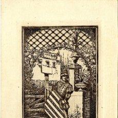 Arte: CASALS Y VERNIS, RAMÓN ( 1860-1920). EX LIBRIS PARA JOSEPH MONSALVATJE. Lote 89611604