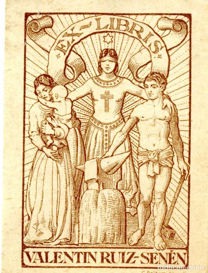 DELHOM, C. EX LIBRIS PARA VALENTÍN RUIZ SENÉN (Arte - Ex Libris)