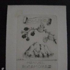 Arte: EX LIBRIS - MANUEL ROCAMORA - GRABADO -VER FOTOS -(X-1949). Lote 90472049