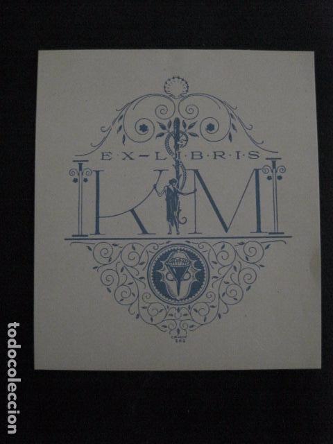 EX LIBRIS -KIM - TRIADO -VER FOTOS -(X-1970) (Arte - Ex Libris)