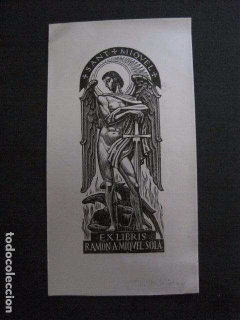 EX LIBRIS - RAMON A. MIQUEL SOLA -VER FOTOS -(X-1997) (Arte - Ex Libris)