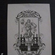 Arte: EX LIBRIS - ANTON TORRAS - TRIADO -VER FOTOS -(X-2005). Lote 90543685