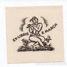 Arte: EX-LIBRIS DE ERNEST MARCH. Lote 90715060