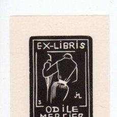 Arte: EX-LIBRIS DE ODILE MERCIER (FRANCIA) - GRABADO JOCELYN MERCIER. Lote 90716200
