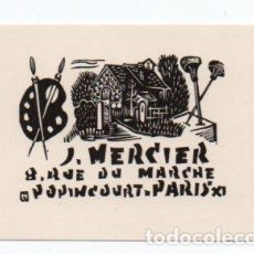 Arte: EX-LIBRIS DE JOCELYN MERCIER - AUTOR JOCELYN MERCIER. Lote 90716320
