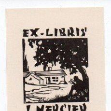 Arte: EX-LIBRIS DE JOCELYN MERCIER - GRABADO JOCELYN MERCIER. Lote 90717170