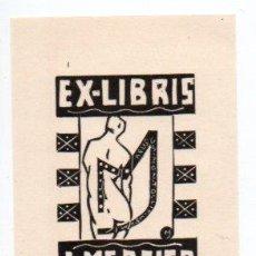Arte: EX-LIBRIS DE JOCELYN MERCIER - AUTOR JOCELYN MERCIER. Lote 90717275