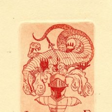 Arte: ROSSELL, RAIMUNDO (1924-) EX LIBRIS PARA J. DALMAU. Lote 91065360