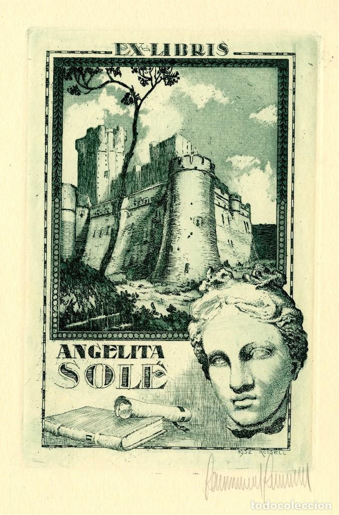 ROSSELL, RAIMUNDO (1924-)EX LIBRIS PARA ANGELITA SOLE (Arte - Ex Libris)