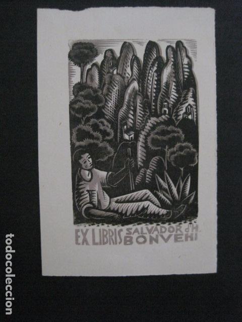 EX LIBRIS - SALVADOR BONVEHI - VER FOTOS -(X-2031) (Arte - Ex Libris)